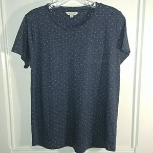 Women's Lucky Brand polkadot Shirt Medium